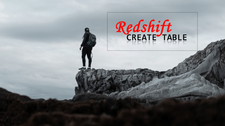 redshift create table